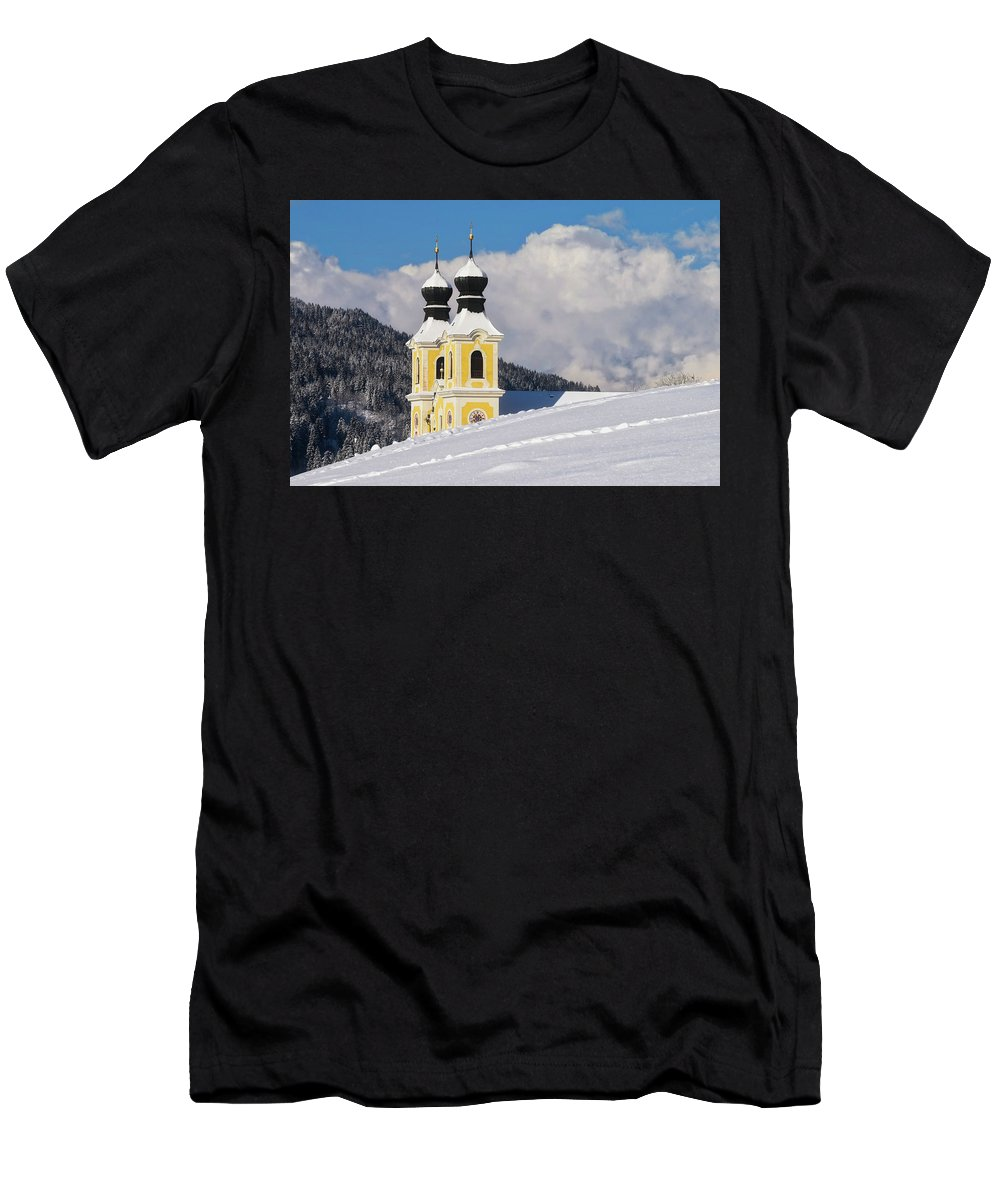 Church Men's T-Shirt (Athletic Fit) featuring the photograph Winter Illusion by Edin Kolic