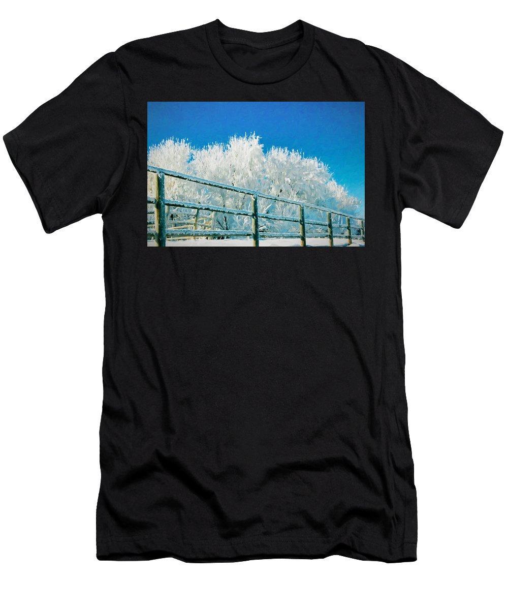 Winter Men's T-Shirt (Athletic Fit) featuring the photograph Winter Impressions by Greg Norrell