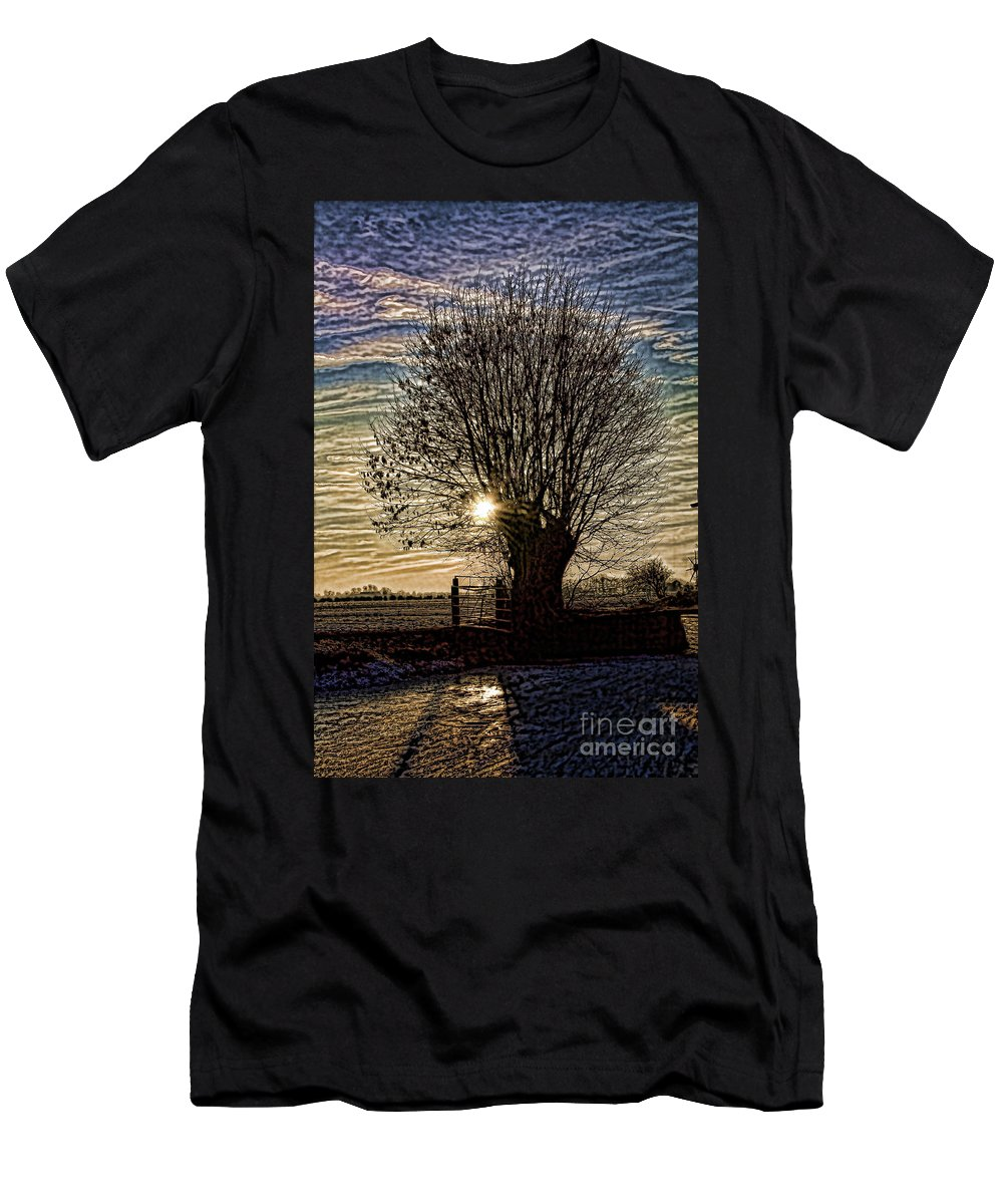Dutch Men's T-Shirt (Athletic Fit) featuring the photograph Winter In Holland 3 by Casper Cammeraat