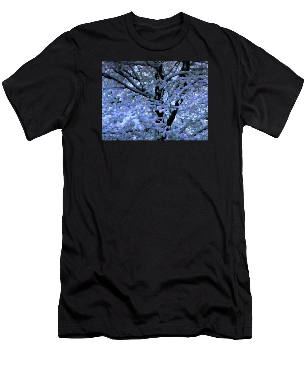 Abstract Men's T-Shirt (Athletic Fit) featuring the digital art Winter Light by Dave Martsolf