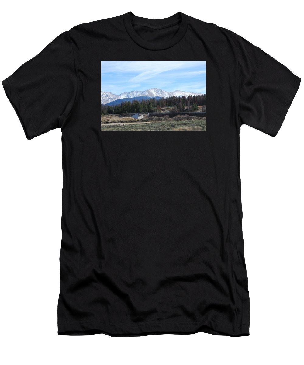 Colorado Men's T-Shirt (Athletic Fit) featuring the photograph Winter Park Colorado by Margaret Fortunato