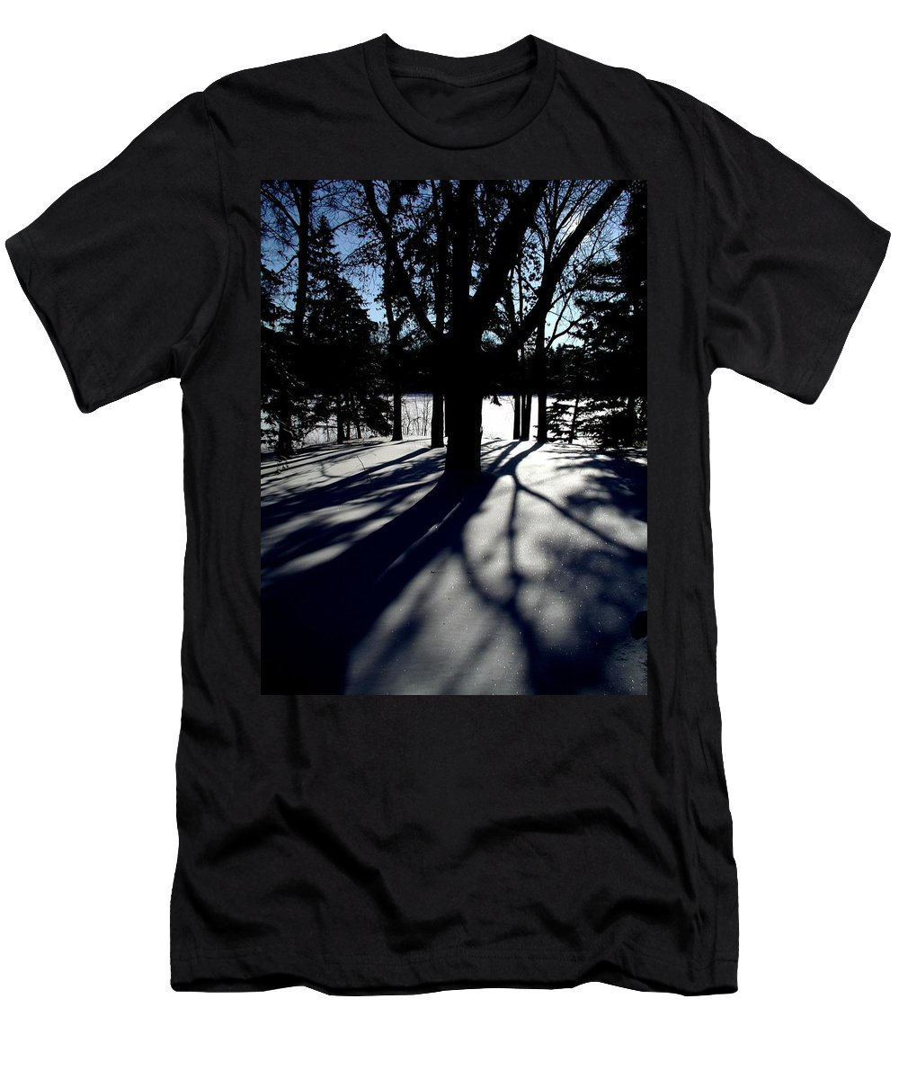 Landscape Men's T-Shirt (Athletic Fit) featuring the photograph Winter Shadows 2 by Tom Reynen