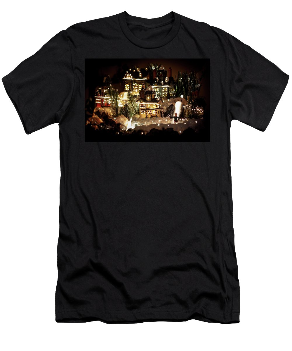Winter Men's T-Shirt (Athletic Fit) featuring the photograph Winter Village by Ben McLachlan