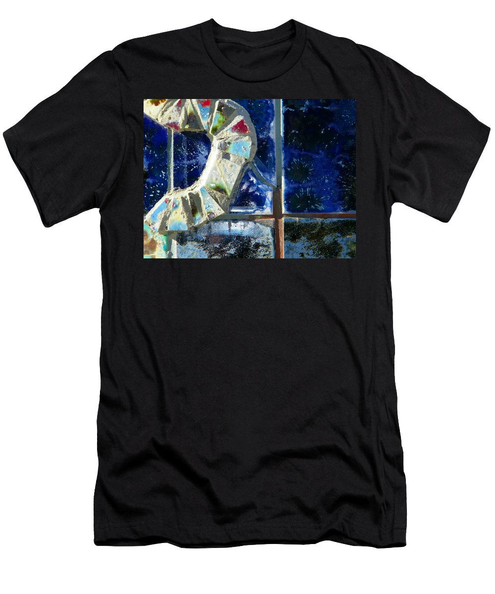 Abstract Men's T-Shirt (Athletic Fit) featuring the photograph Winter Window by Lenore Senior