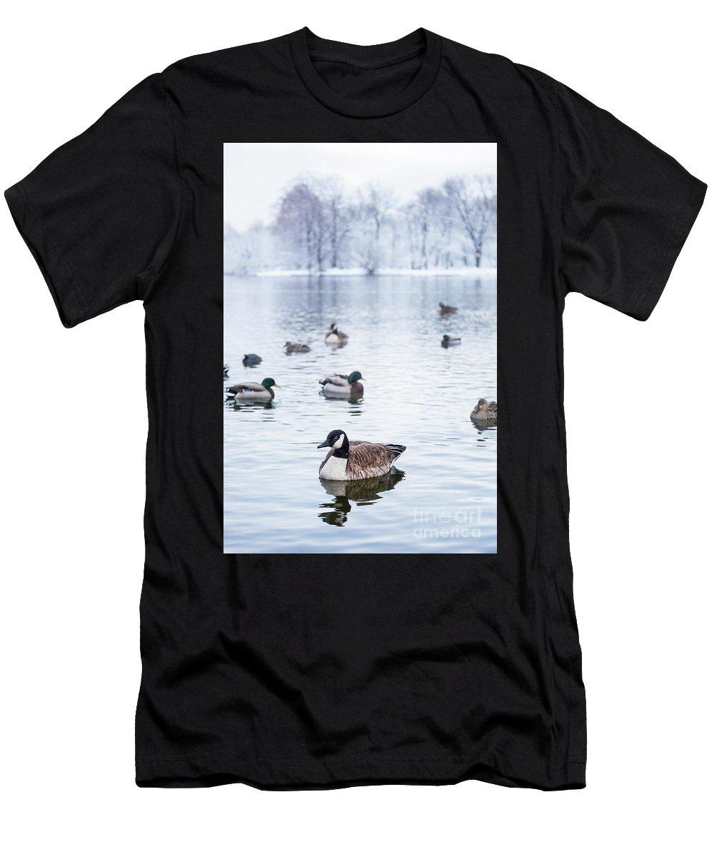 Kremsdorf Men's T-Shirt (Athletic Fit) featuring the photograph Winterlong by Evelina Kremsdorf