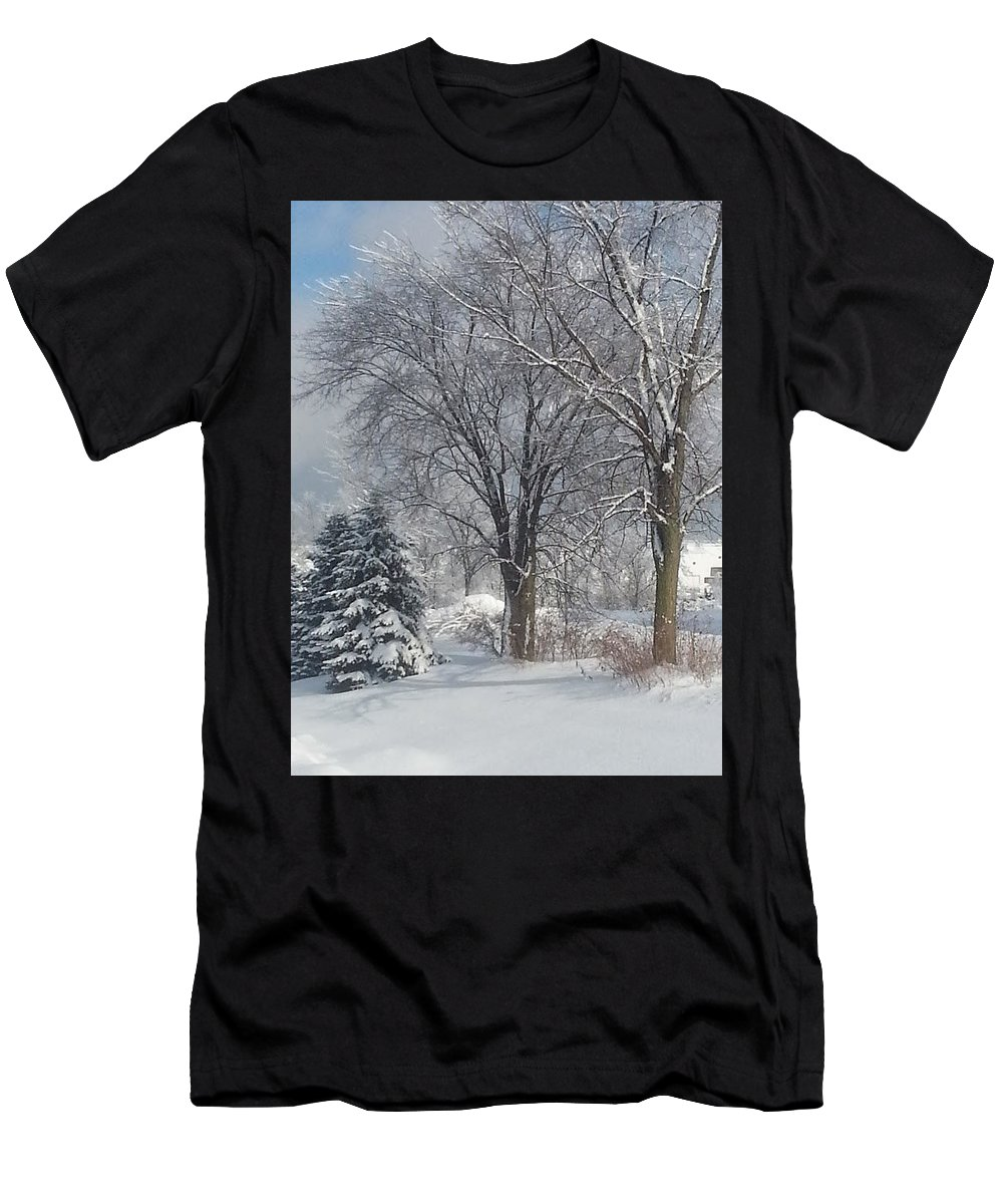 Winter Men's T-Shirt (Athletic Fit) featuring the photograph Winter's Best by Timothy Porter