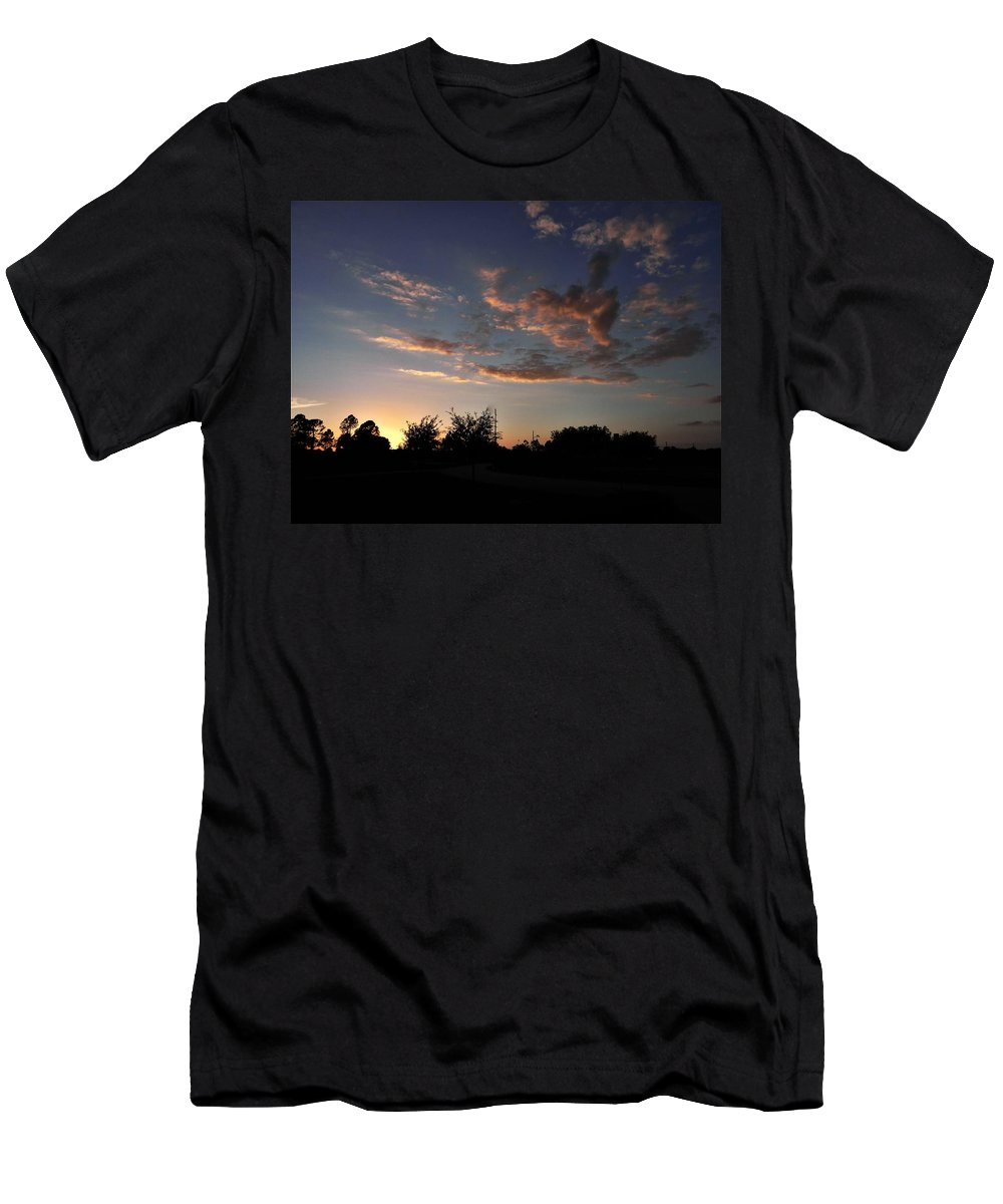 Sunset Men's T-Shirt (Athletic Fit) featuring the photograph Winters Evening by Ric Schafer