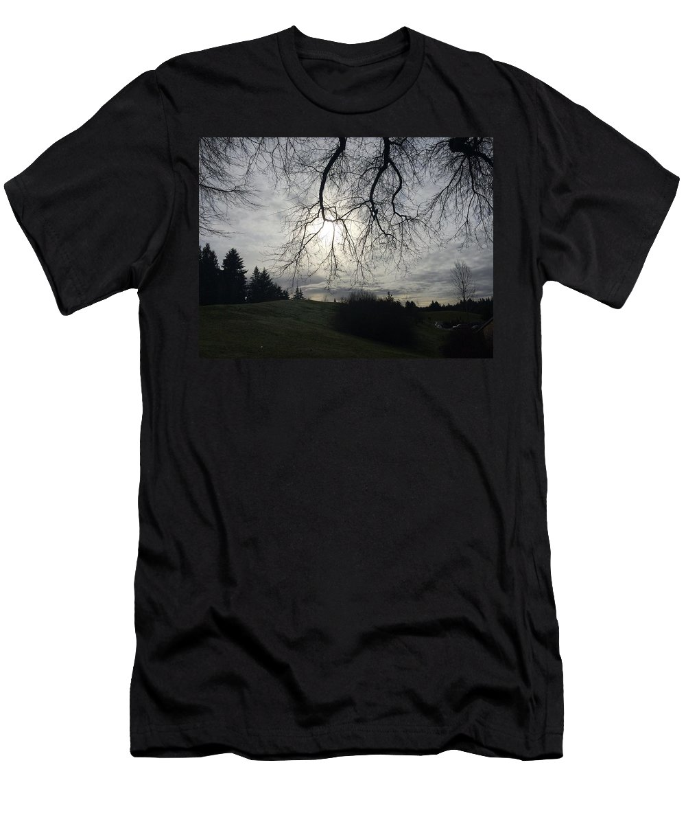 #winter Men's T-Shirt (Athletic Fit) featuring the photograph Winterscape by Jennifer Santos