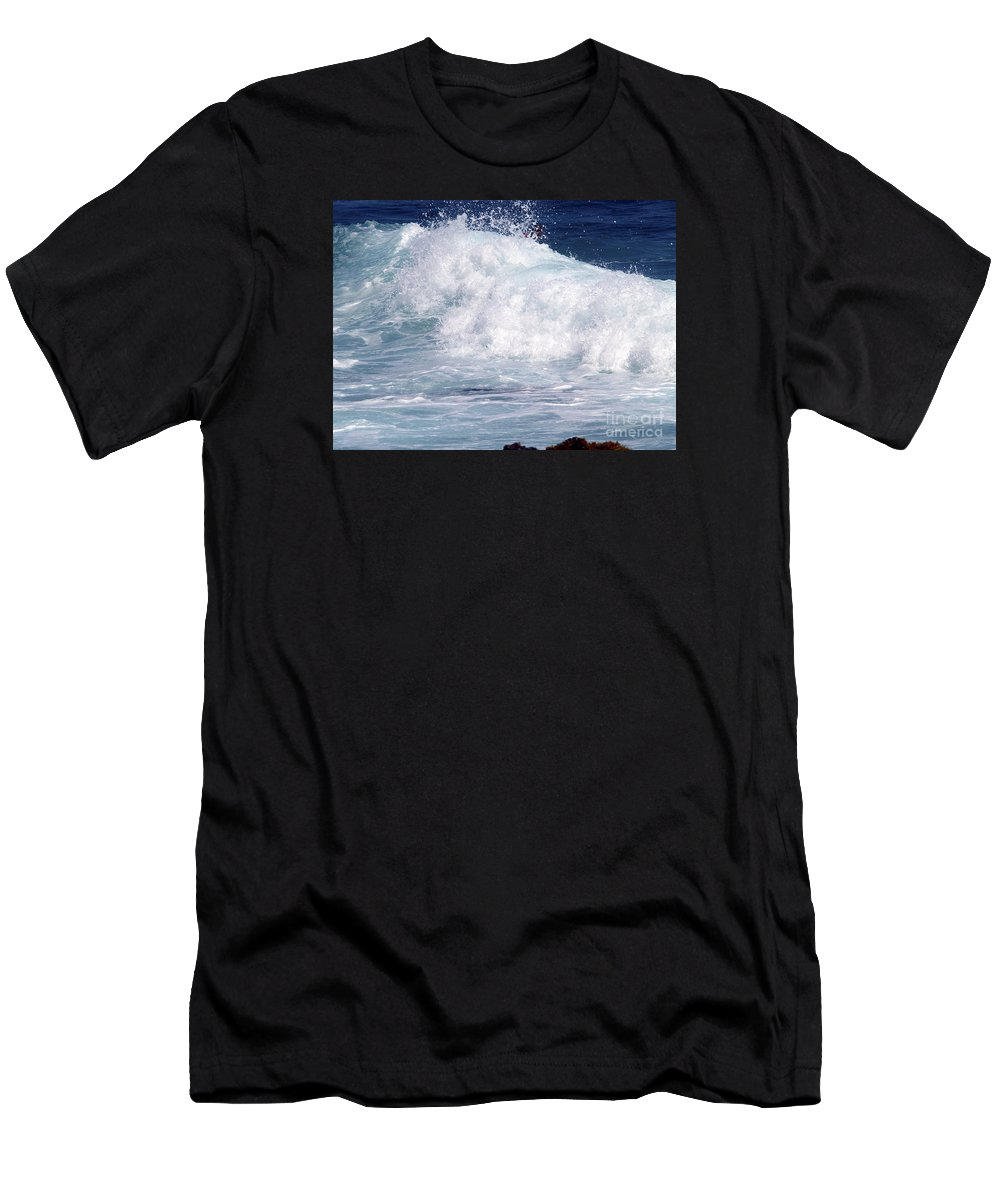 Fine Art Photography Men's T-Shirt (Athletic Fit) featuring the photograph Wipe-out by Patricia Griffin Brett