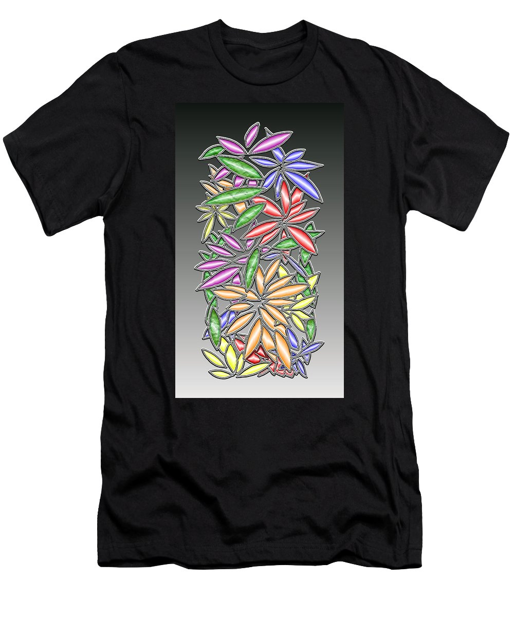Abstract Men's T-Shirt (Athletic Fit) featuring the digital art Wire Flowers by Mark Sellers