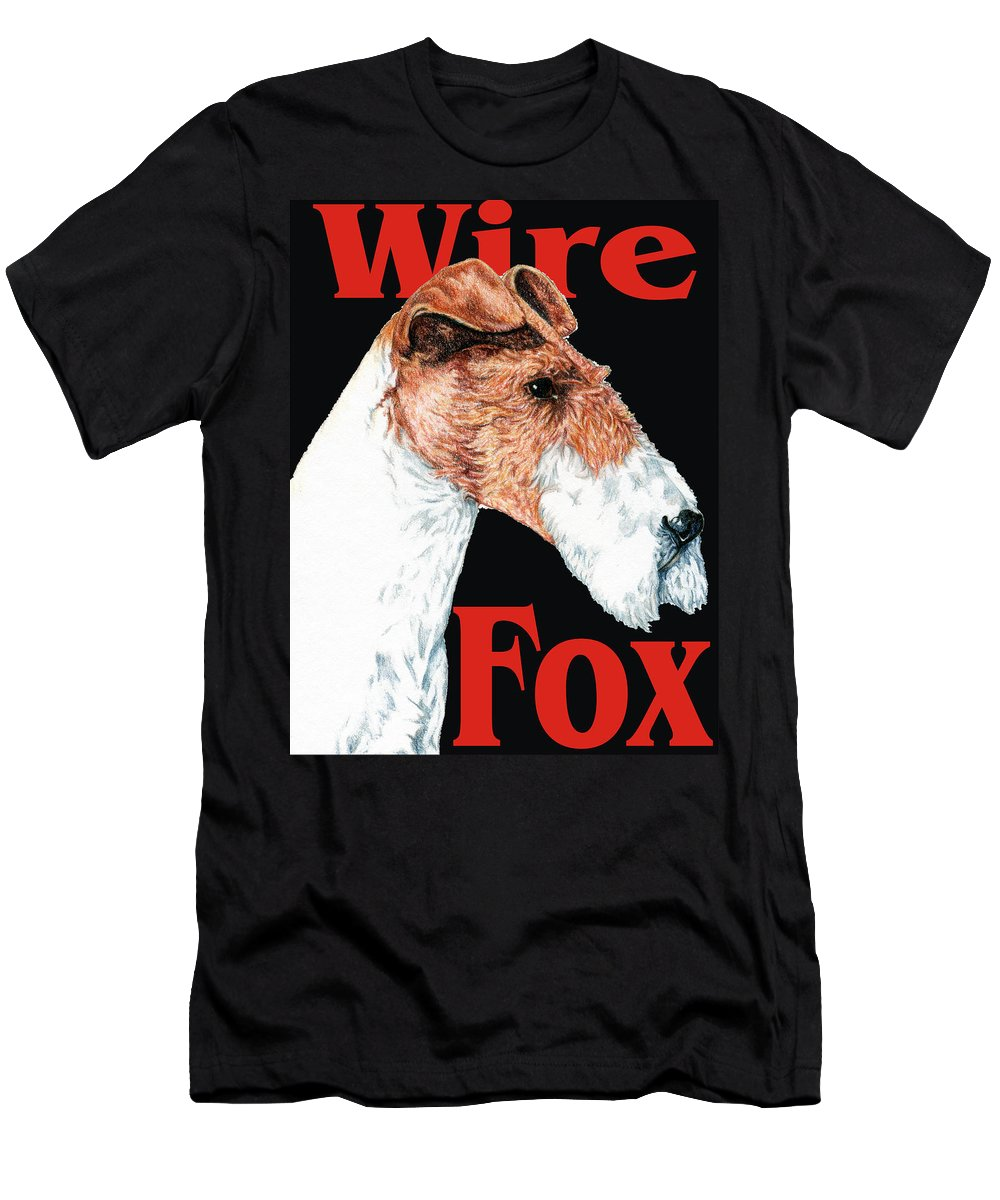 Art Men's T-Shirt (Athletic Fit) featuring the digital art Wire Fox Terrier by Kathleen Sepulveda