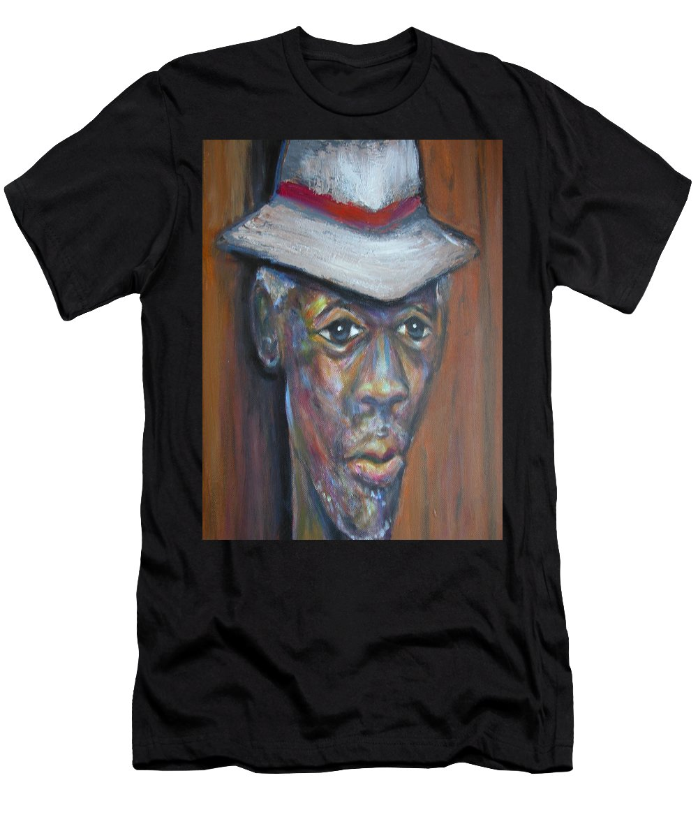 Men's T-Shirt (Athletic Fit) featuring the painting Wise Old Man by Jan Gilmore
