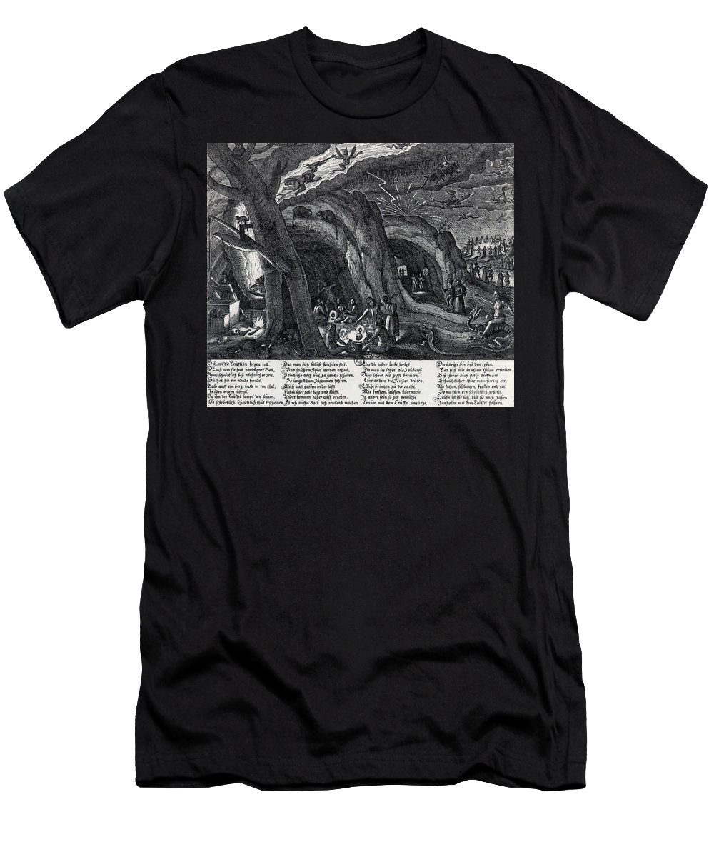 History Men's T-Shirt (Athletic Fit) featuring the photograph Witches Sabbath, 1630 by Science Source