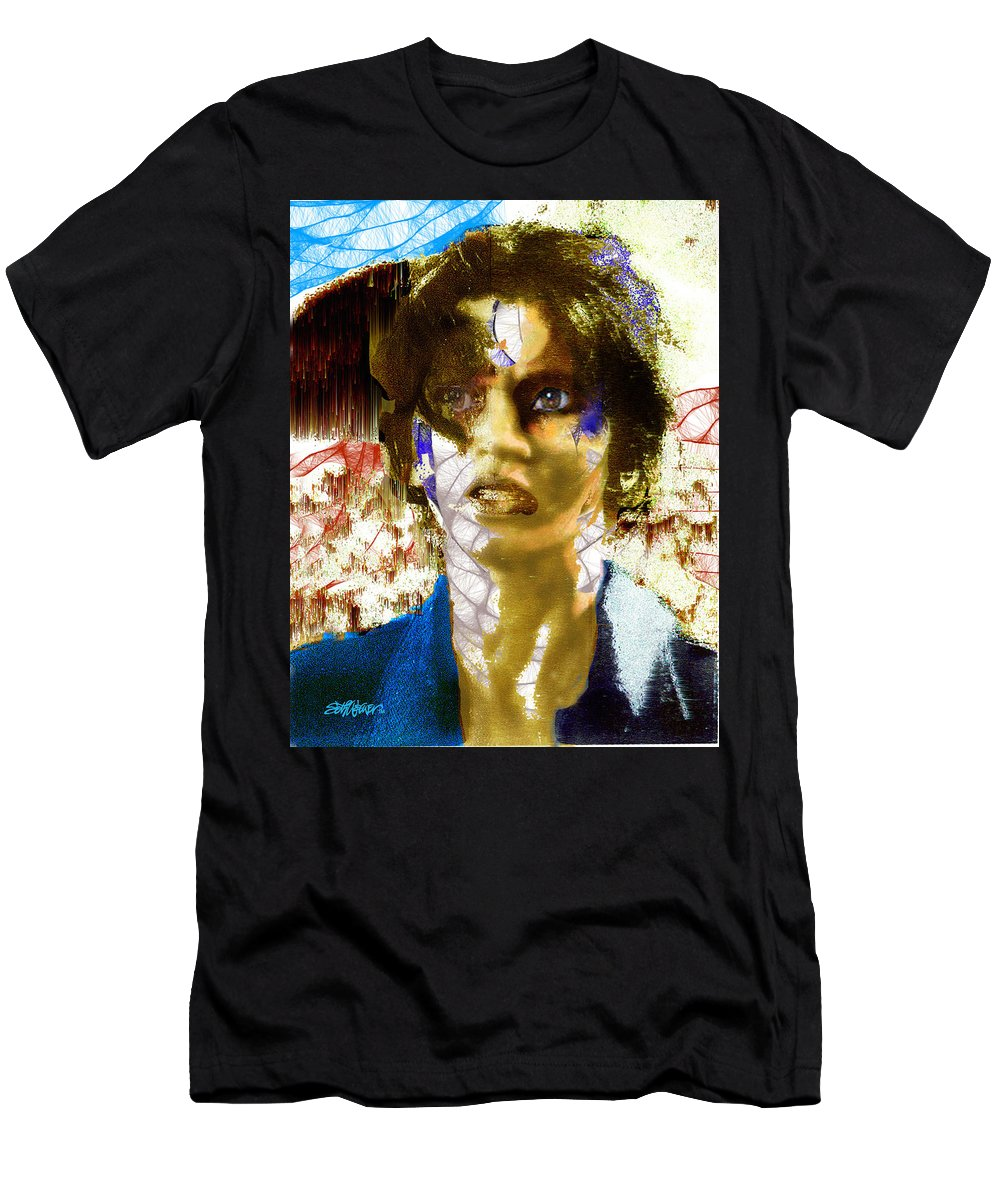 With The Wind In Her Face Men's T-Shirt (Athletic Fit) featuring the digital art With The Wind In Her Hair by Seth Weaver