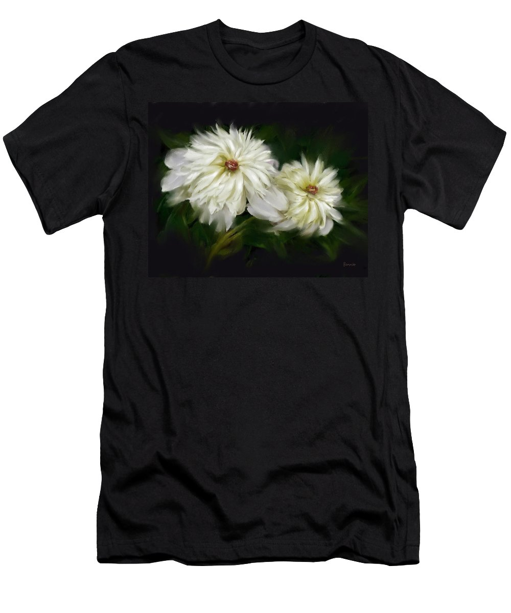 Peony Men's T-Shirt (Athletic Fit) featuring the painting Withering Peony by Bonnie Willis