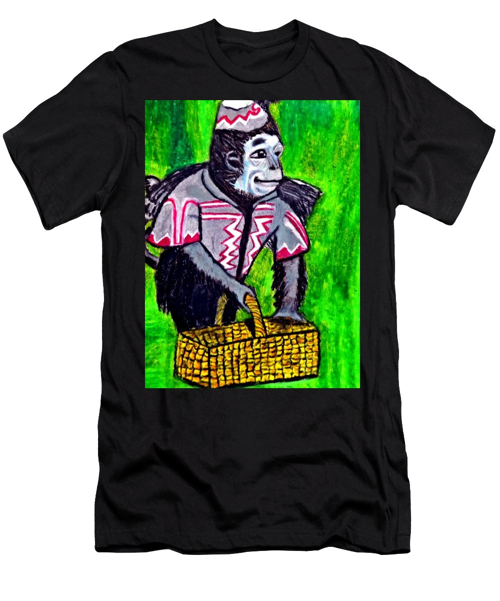 Wizard Of Oz Men's T-Shirt (Athletic Fit) featuring the pastel Wizard Of Oz Flying Monkey by Jo-Ann Hayden