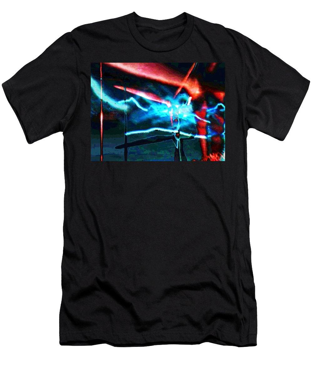 Art Digital Art Men's T-Shirt (Athletic Fit) featuring the digital art wmill - Forces by Alex Porter