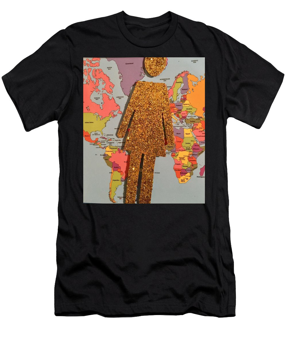 Woman Art Men's T-Shirt (Athletic Fit) featuring the photograph Woman Of The World by Laura Pierre-Louis
