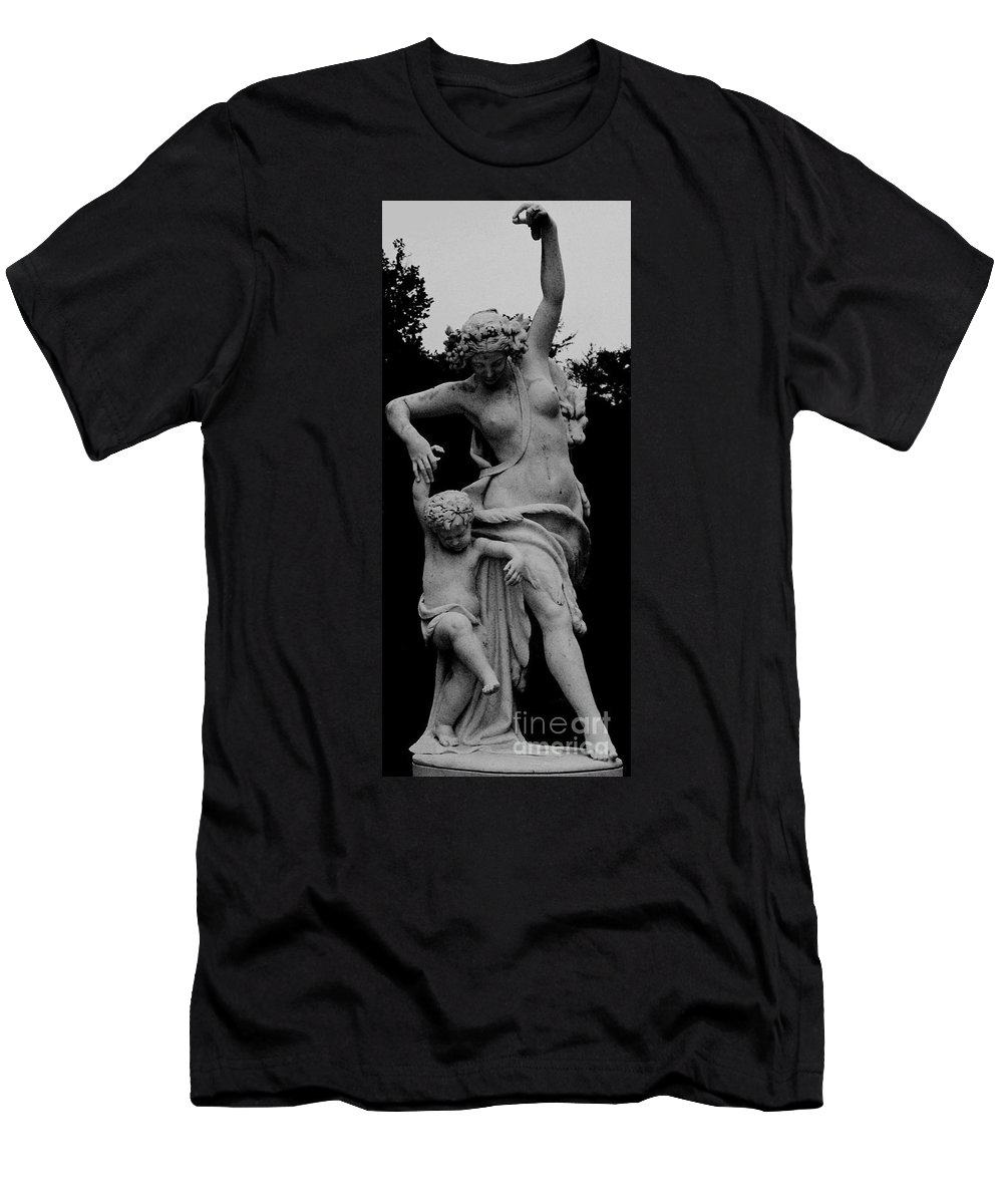 Figurative Men's T-Shirt (Athletic Fit) featuring the painting Woman Statue by Eric Schiabor