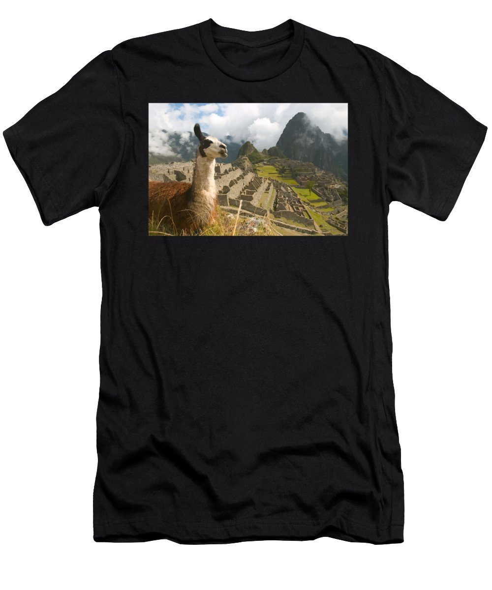 Mountain Men's T-Shirt (Athletic Fit) featuring the digital art Wonder by Opoble Opoble