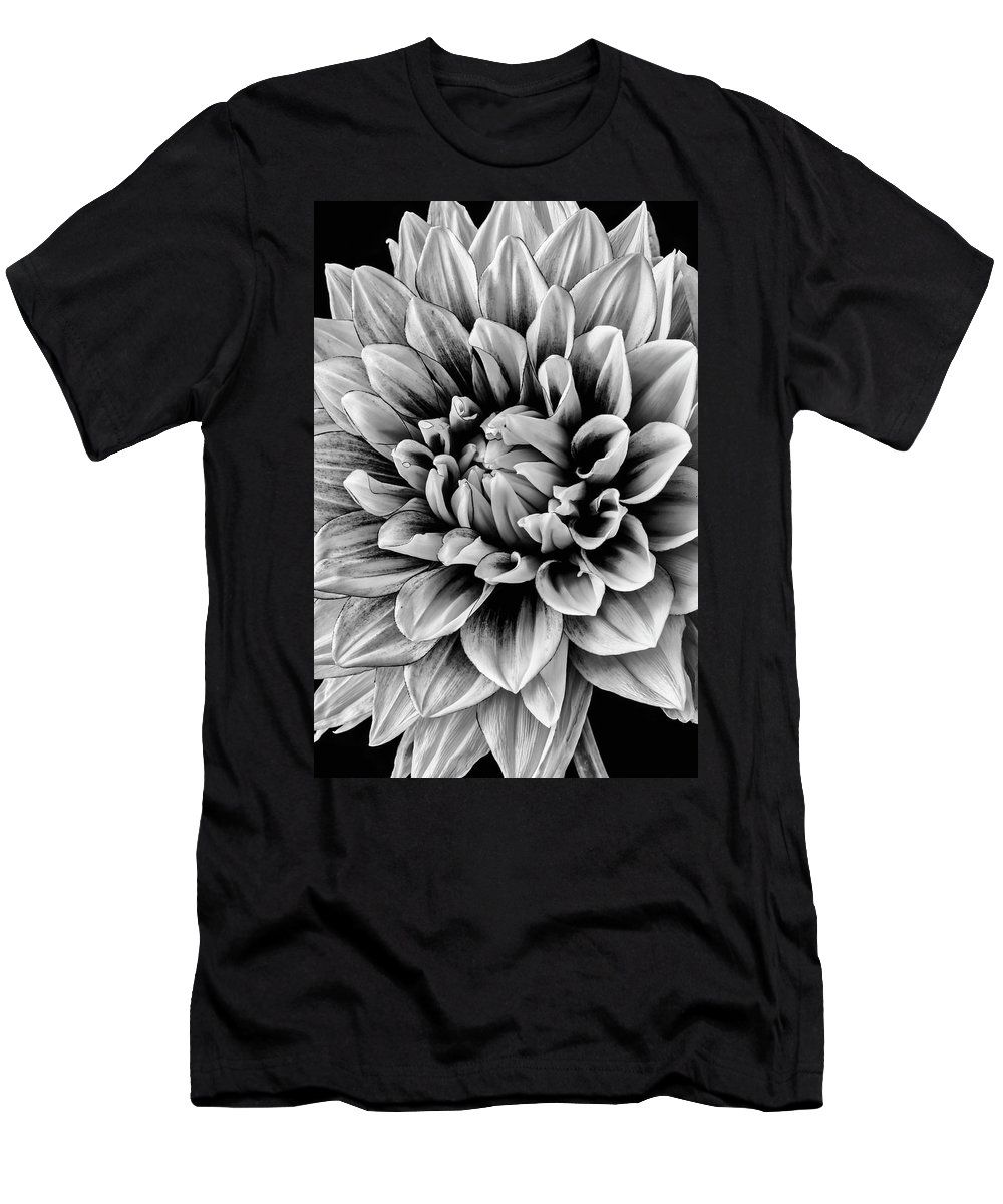 Vertical Men's T-Shirt (Athletic Fit) featuring the photograph Wonderful Graphic Dahlia by Garry Gay