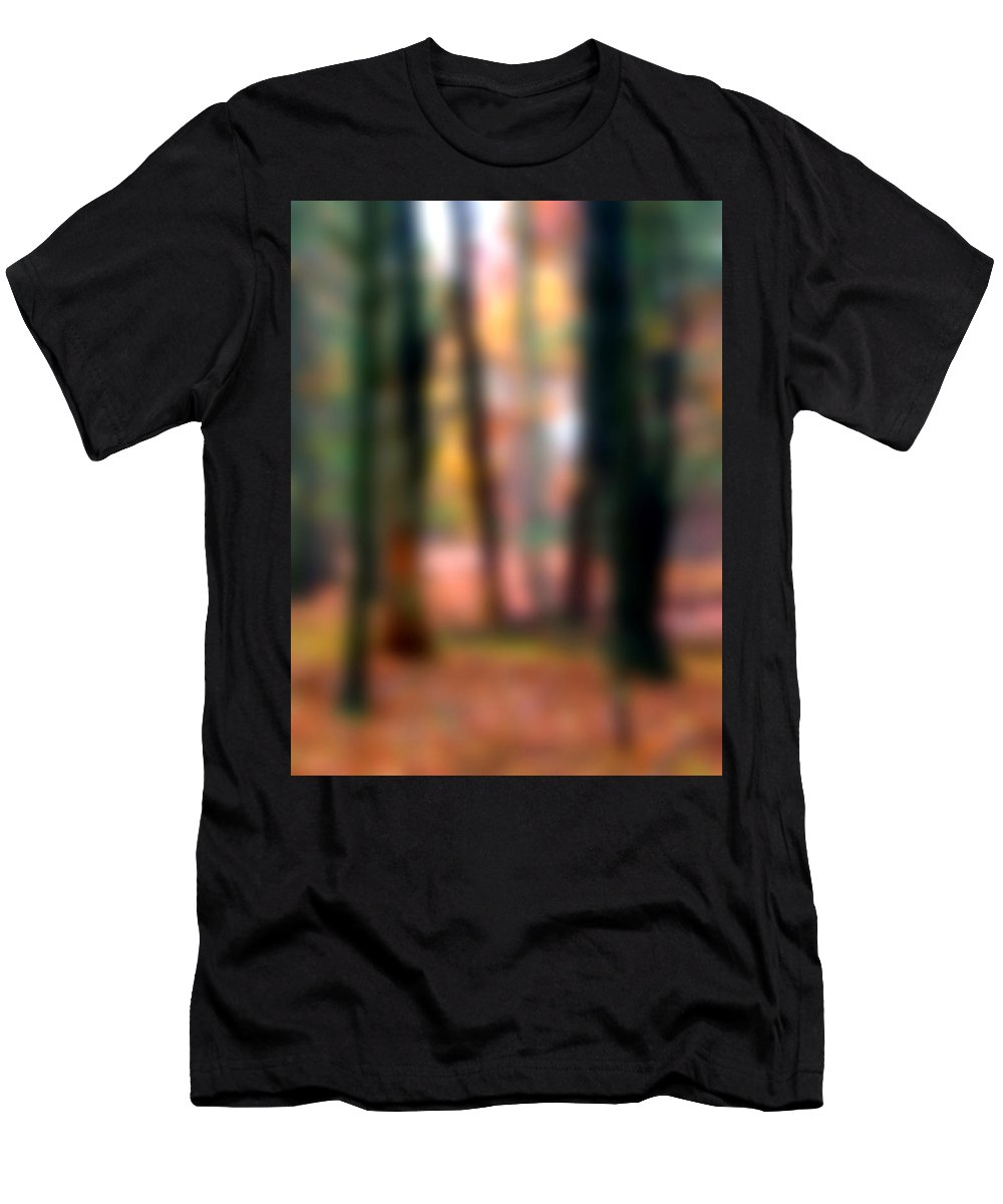 Autumn Men's T-Shirt (Athletic Fit) featuring the painting Wooded Wonderland by Paul Sachtleben