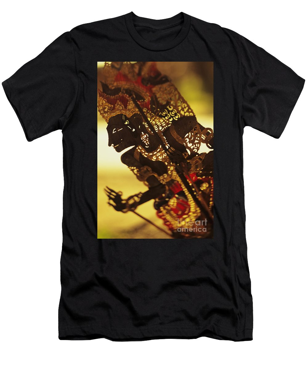 Art Men's T-Shirt (Athletic Fit) featuring the photograph Wooden Shadow Puppets by Dana Edmunds - Printscapes