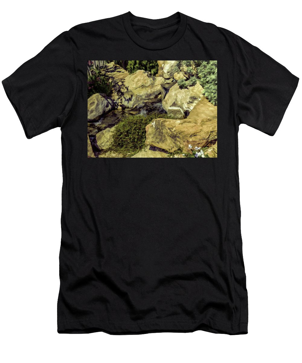 Landscape Men's T-Shirt (Athletic Fit) featuring the photograph Woodward Park 2016 V1 by John Straton