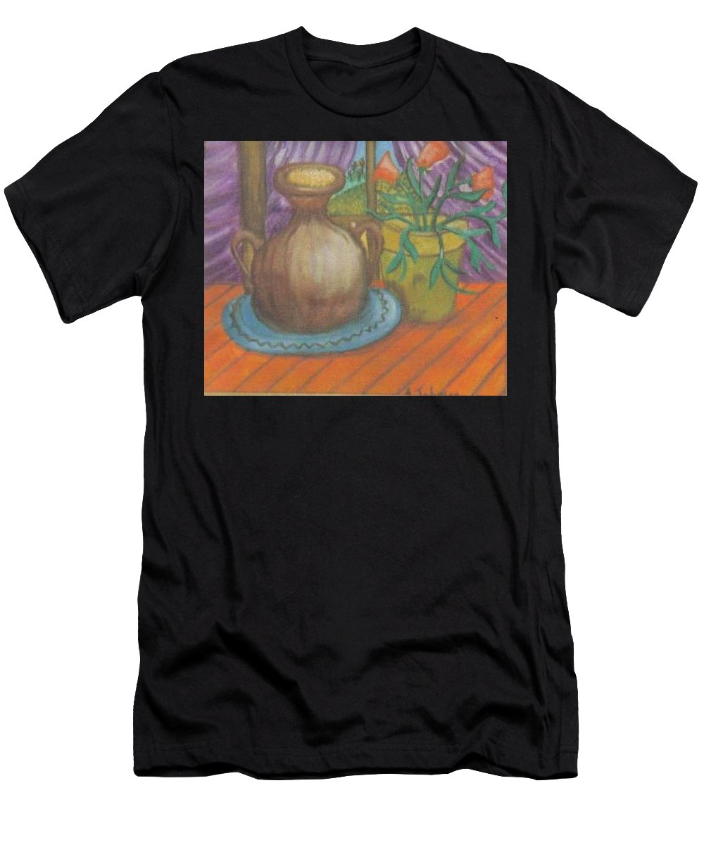 Still Life Men's T-Shirt (Athletic Fit) featuring the painting Work by Andrew Johnson