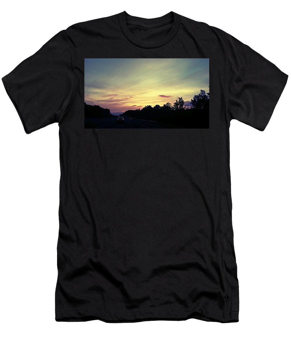 Workday Wonders Men's T-Shirt (Athletic Fit) featuring the photograph Workday Wonders by Maria Urso