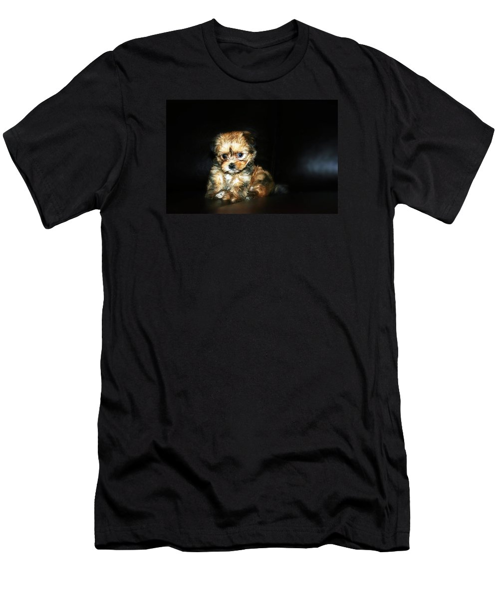 Pet Men's T-Shirt (Athletic Fit) featuring the photograph Working Her Magic by Daniel Jewell
