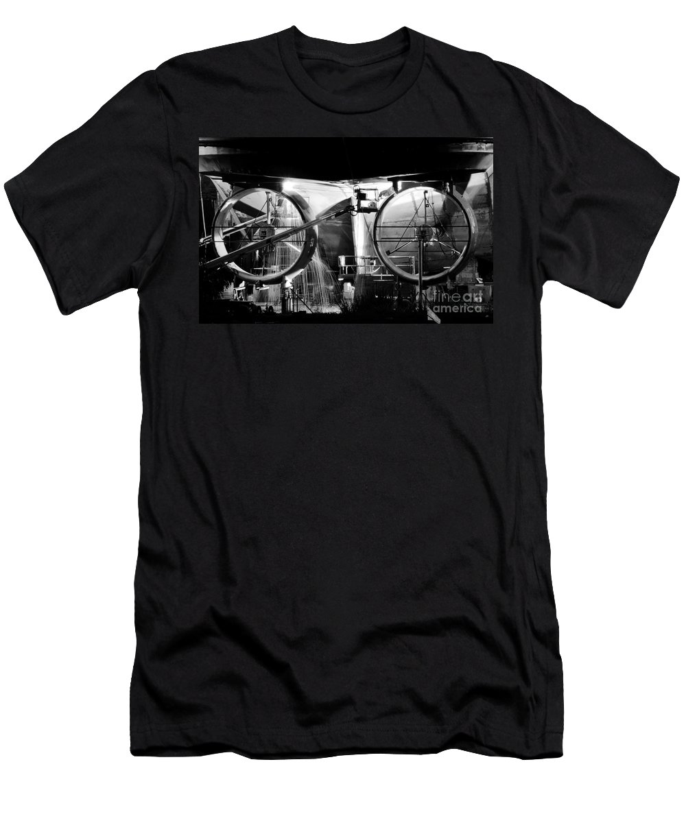 Work Men's T-Shirt (Athletic Fit) featuring the photograph Working Men by David Lee Thompson