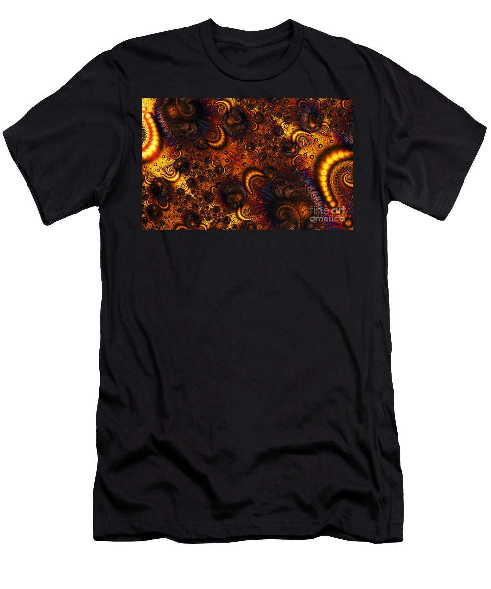 Clay Men's T-Shirt (Athletic Fit) featuring the digital art Worm Infestation by Clayton Bruster
