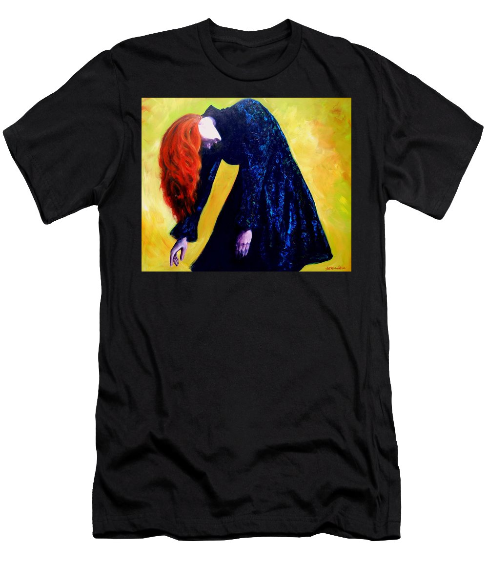Acrylic Men's T-Shirt (Athletic Fit) featuring the painting Wound Down by Jason Reinhardt