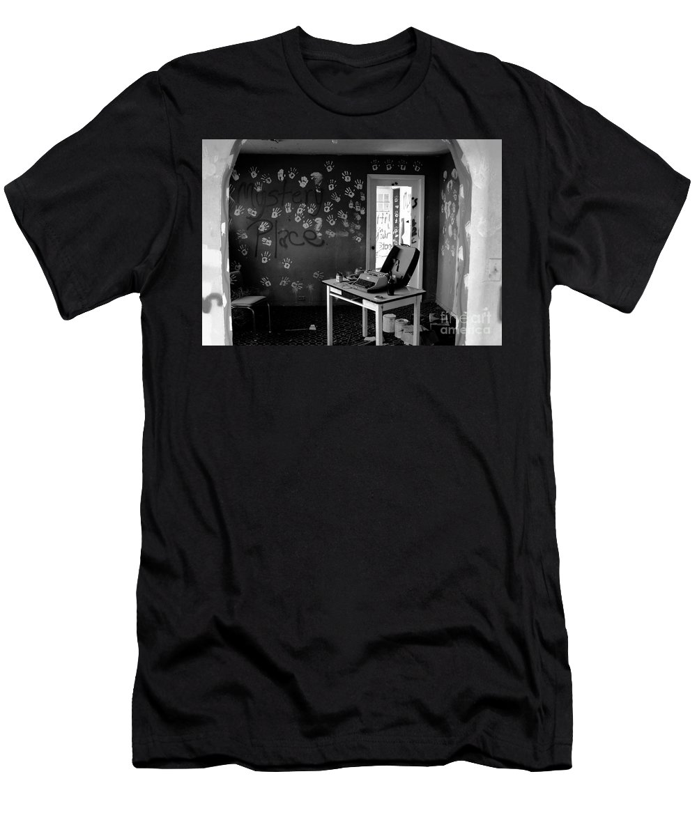 Writing Men's T-Shirt (Athletic Fit) featuring the photograph Writers Station by David Lee Thompson