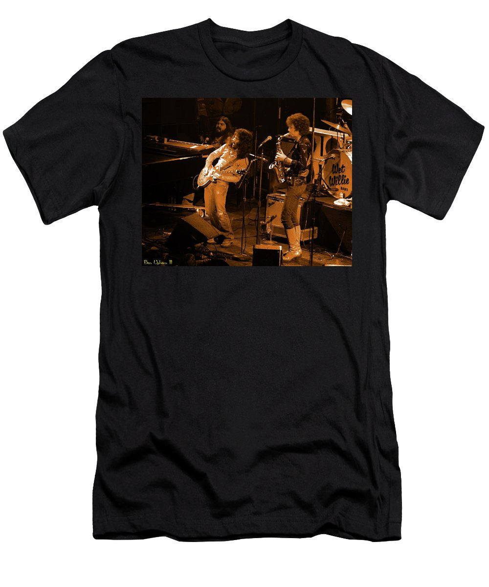 Classic Rock Men's T-Shirt (Athletic Fit) featuring the photograph Ww#7 Enhanced In Amber by Ben Upham