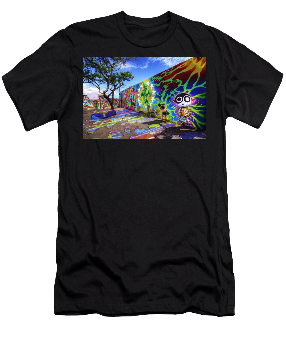 Wynwood Walls Men's T-Shirt (Athletic Fit) featuring the photograph Wynwood Walls by Danny Mongosa
