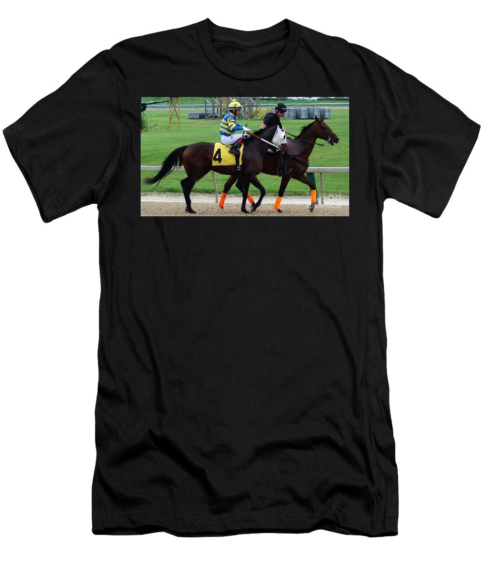 Xavier Perez Men's T-Shirt (Athletic Fit) featuring the photograph Xavier Perez - Our Gal Mal - Timonium by Anthony Schafer