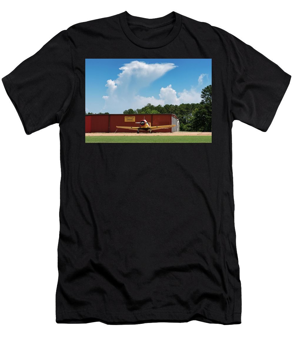 Na64 Men's T-Shirt (Athletic Fit) featuring the photograph Yale Portrait - 2018 Christopher Buff, Www.aviationbuff.com by Chris Buff