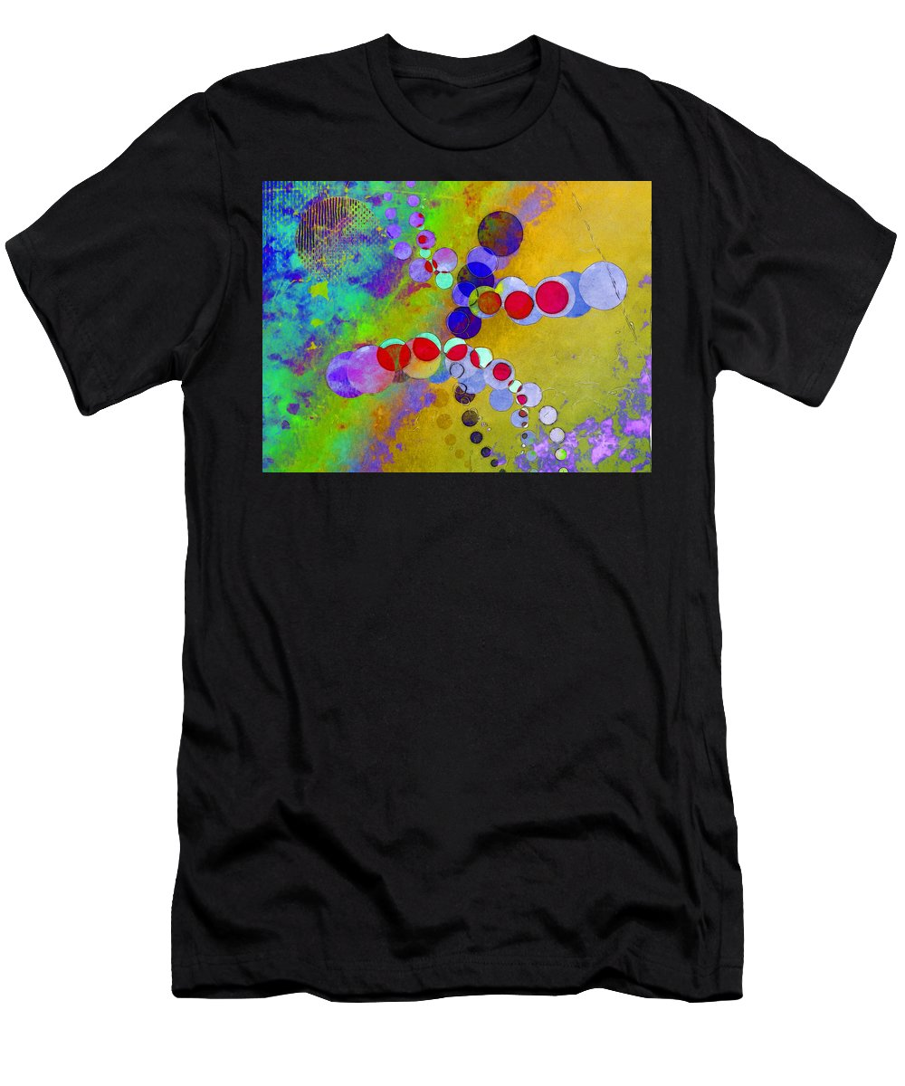 Abstract Men's T-Shirt (Athletic Fit) featuring the digital art Running Yaz by Simo Bikazzan