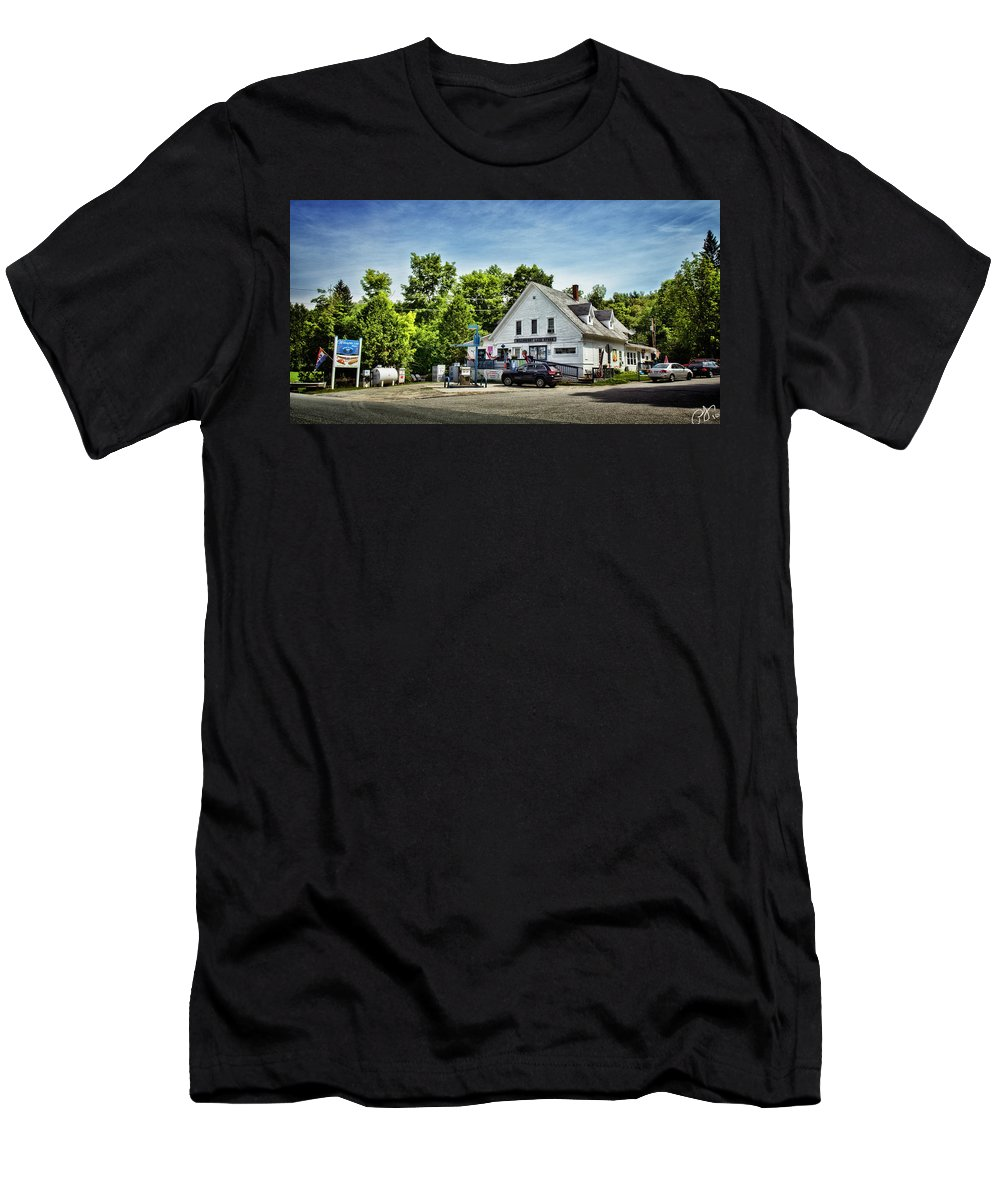 Willoughby Men's T-Shirt (Athletic Fit) featuring the photograph Ye Old Country Store by Rosemary Jardine
