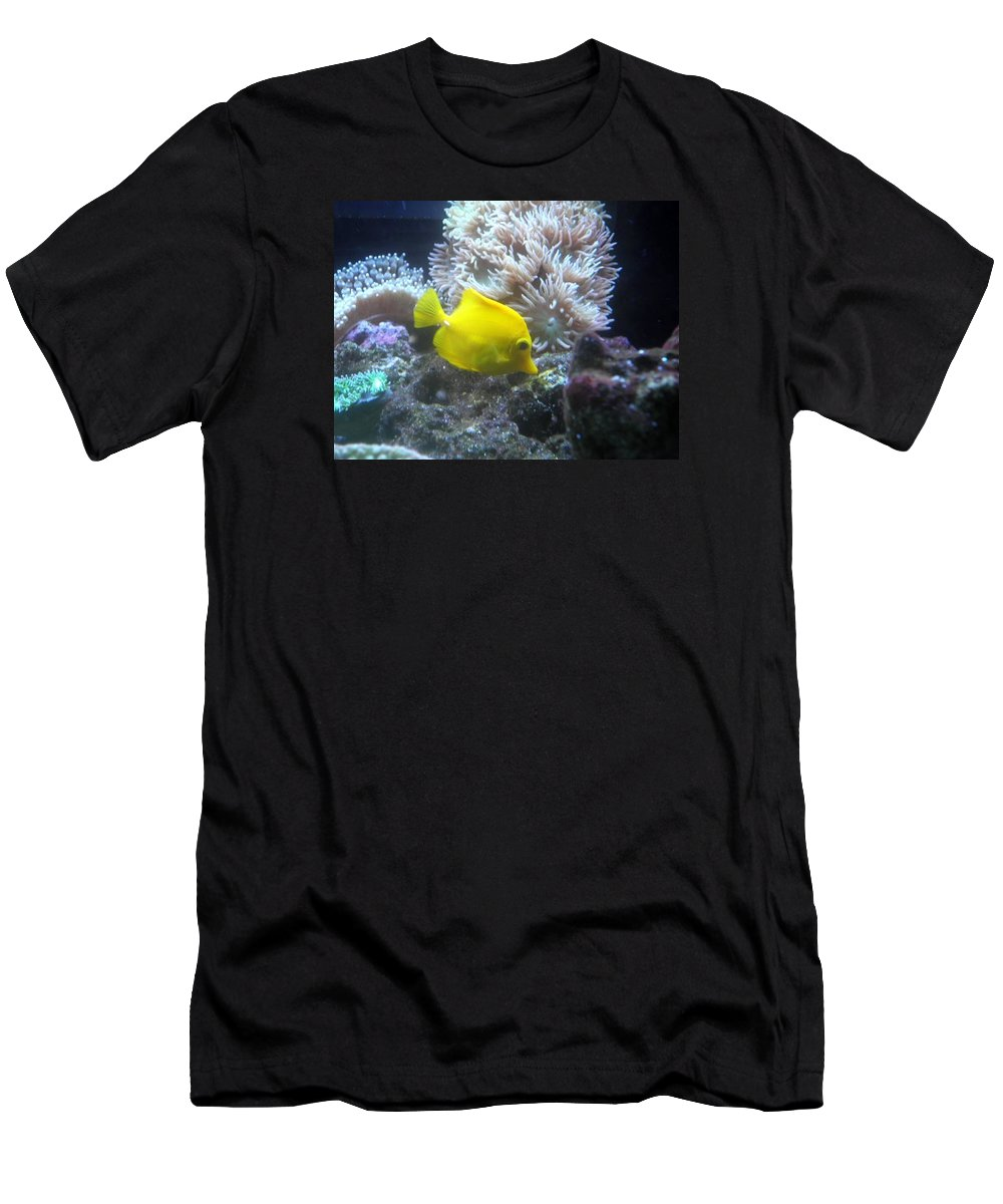 Men's T-Shirt (Athletic Fit) featuring the photograph Yellow Fish by Miss McLean
