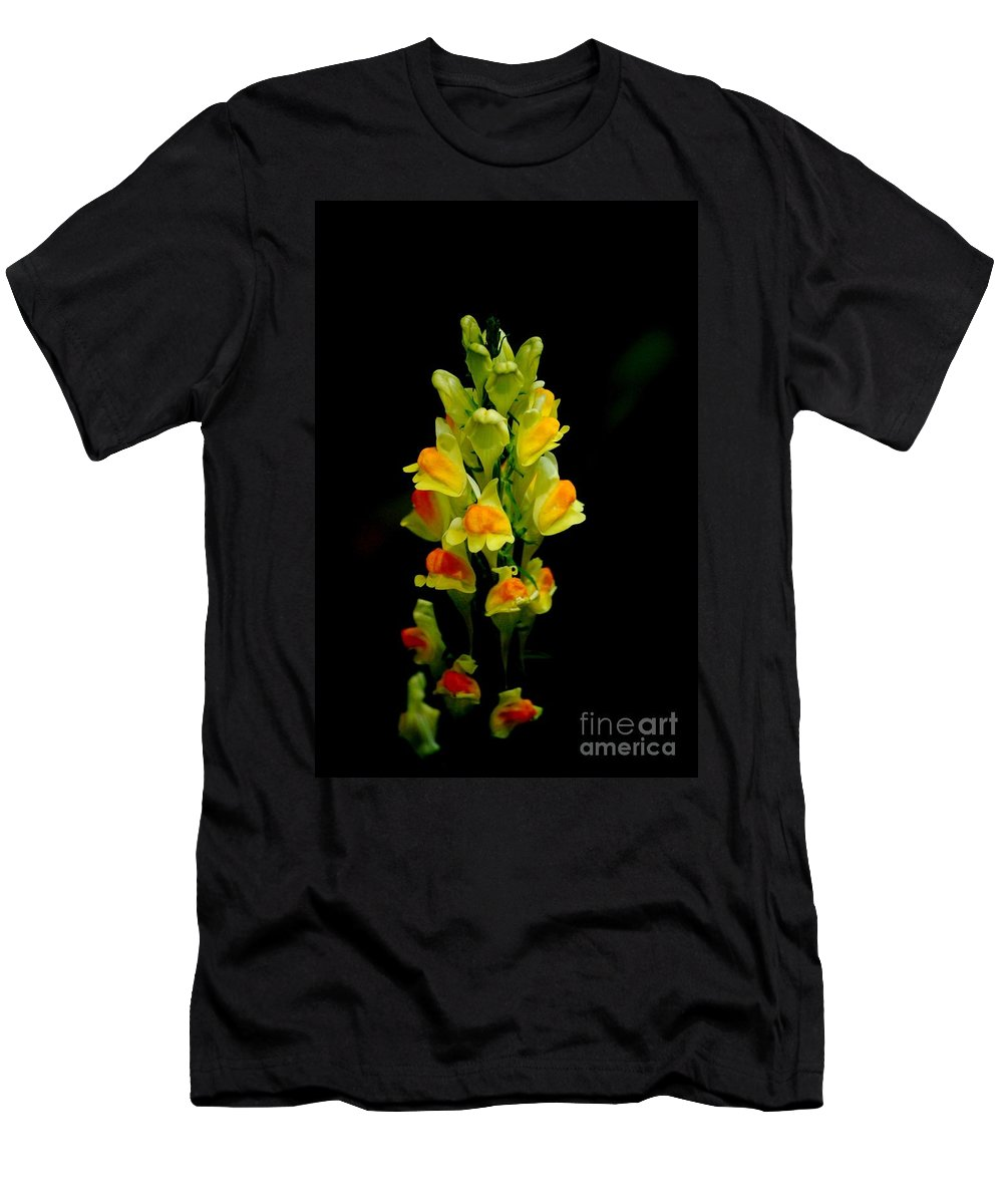 Digital Photograph Men's T-Shirt (Athletic Fit) featuring the photograph Yellow Floral 7-24-09 by David Lane