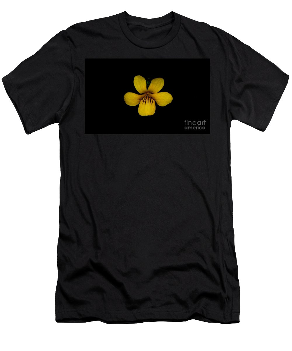 Landscape Men's T-Shirt (Athletic Fit) featuring the photograph Yellow Flower 1 by David Lane