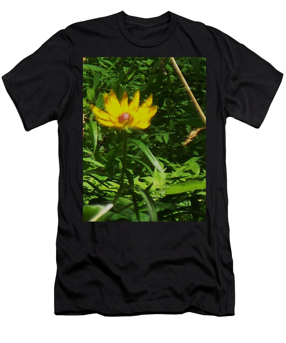 Flower Men's T-Shirt (Athletic Fit) featuring the photograph Yellow Flower by Eric Schiabor