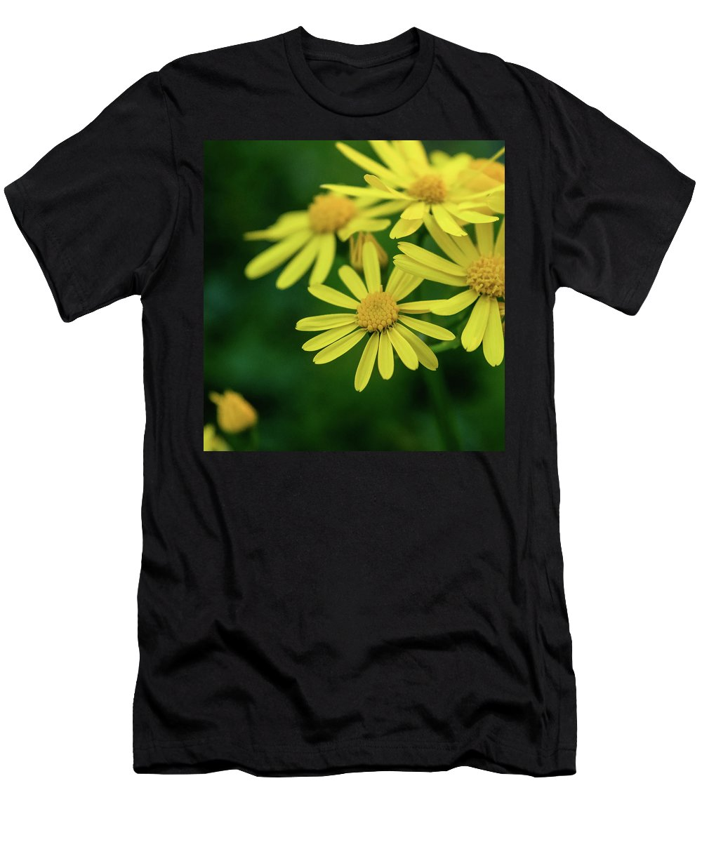 Yellow Flowers Men's T-Shirt (Athletic Fit) featuring the photograph Yellow Flowers by Heather Moore