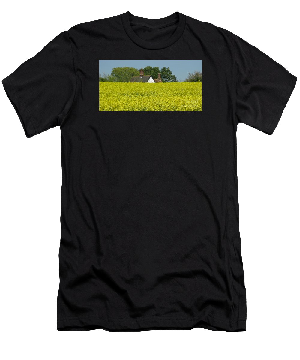 Landscape Men's T-Shirt (Athletic Fit) featuring the photograph Yellow Gold by Ann Horn