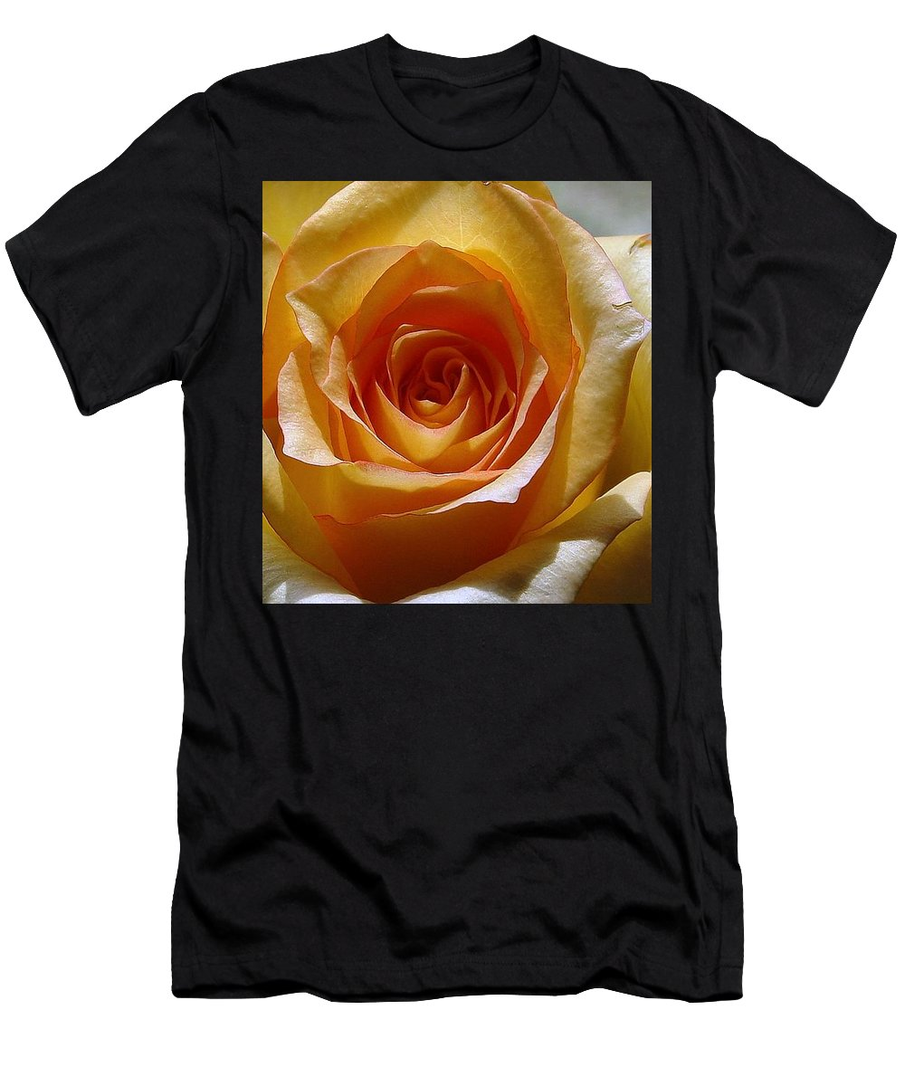 Rose Yellow Men's T-Shirt (Athletic Fit) featuring the photograph Yellow Rose by Luciana Seymour