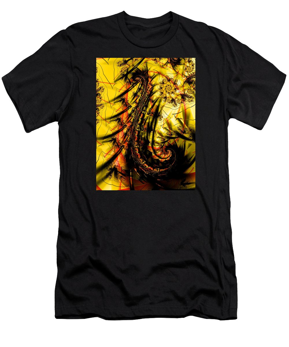 Men's T-Shirt (Athletic Fit) featuring the digital art Yellow Symbol Design by Garret Bohl