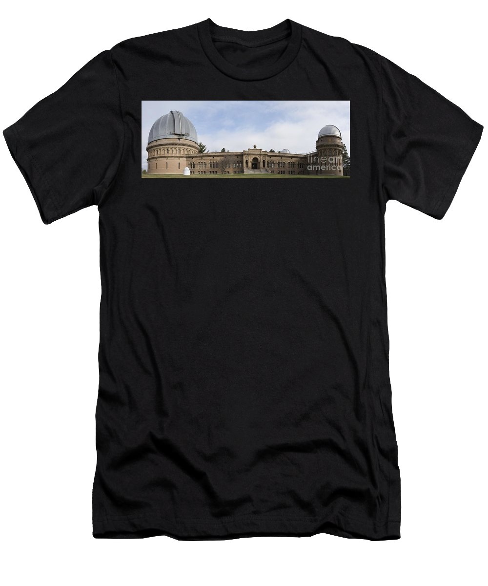 Yerkes Men's T-Shirt (Athletic Fit) featuring the photograph Yerkes Observatory by David Bearden